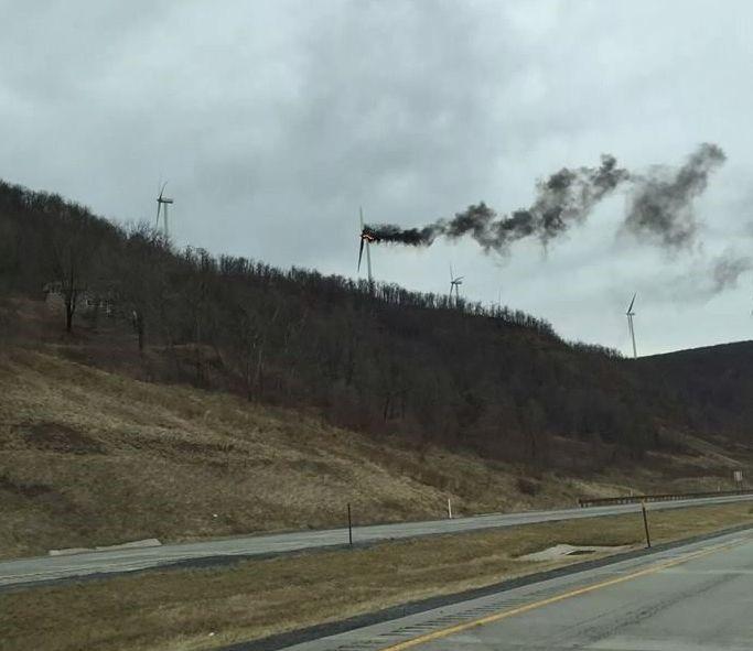 Mount Storm Turbine Fire