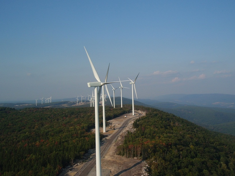 Mount Storm WV Wind Turbine Farm